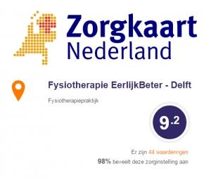 zorgkaart nederland fysiotherapie